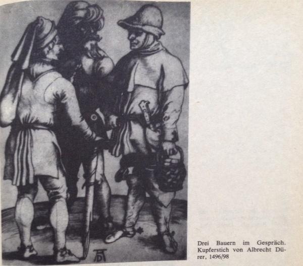 Dürer Drei Bauern im Gespräch
