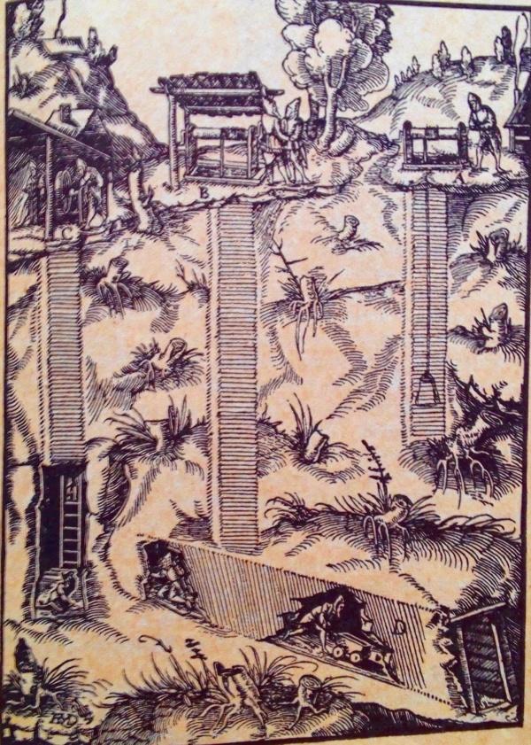 Erzgewinnung 1.Hälfte 16. Jahrhundert