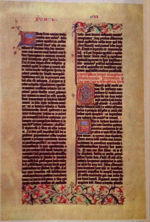 Seite Der Gutenbergbibel