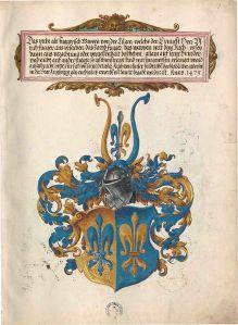 Wappen der Linie Fugger von der Lilie im Ehrenbuch der Fugger, 1545