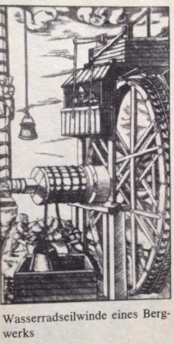 Wasserradmühle Eine Bergwerks