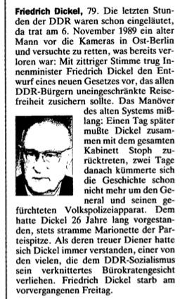 Der Spiegel 44:1993 Tod F. Dickel