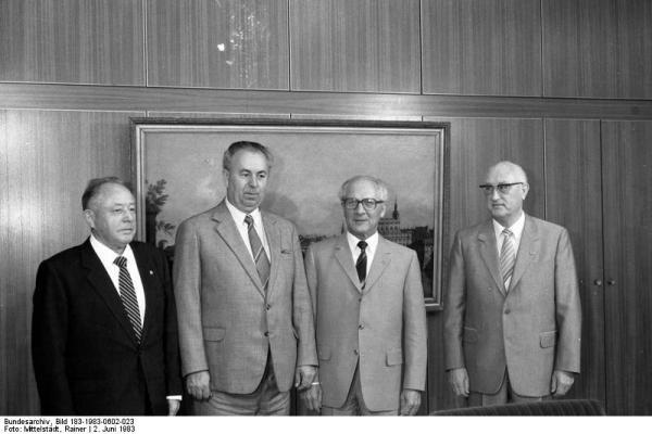 Berlin, Erich Honecker empfängt Jaromir Obzina