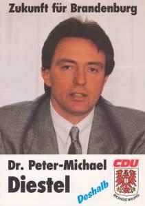 Peter-Michael Diestel Wahlplakat