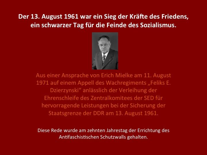 Erich Mielke zum 13. August(aus einer Ansprache vom 11.08.1971)