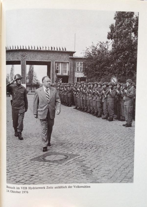Erich Mielke Besuch Hydrierwerk Volkskammerwahl 1976