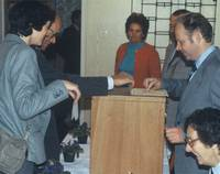 Wahllokal in der DDR