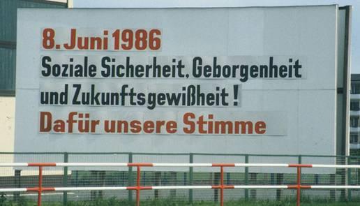 Wahlslogan DDR 1986
