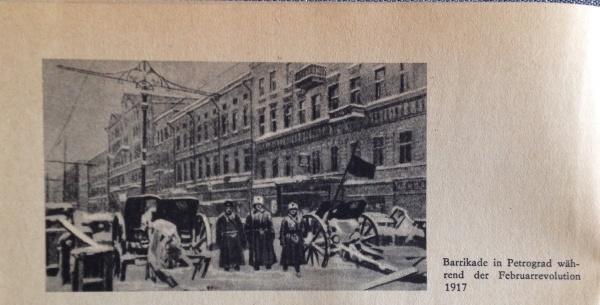 Barrikade Februarrevolution 1917