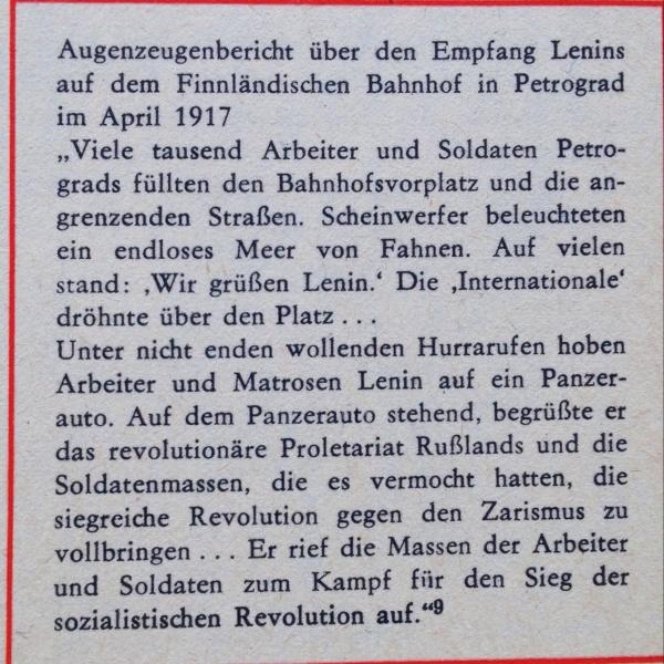 Empfang Lenins am Bhf