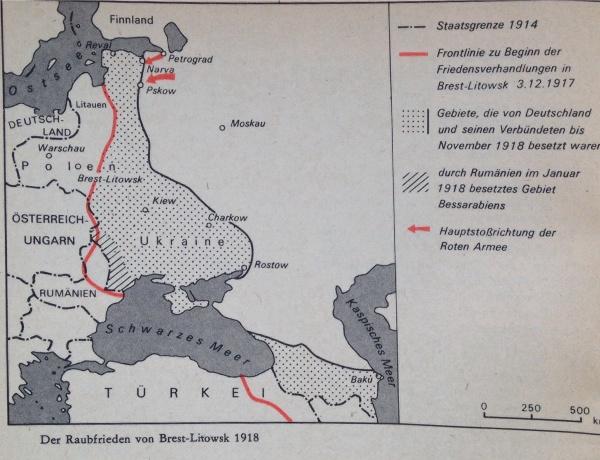 Karte Raubfrieden Von Brest-Litowsk