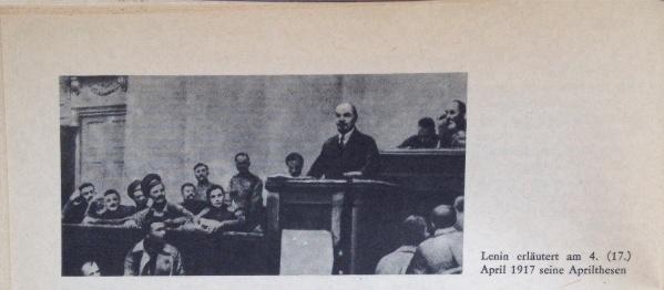 Lenin erläutert Aprilthesen
