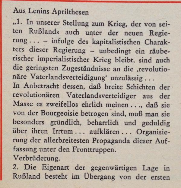 Lenins Aprilthesen 1