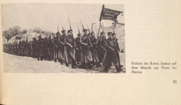 Rote Armee auf Marsch nach Narwa