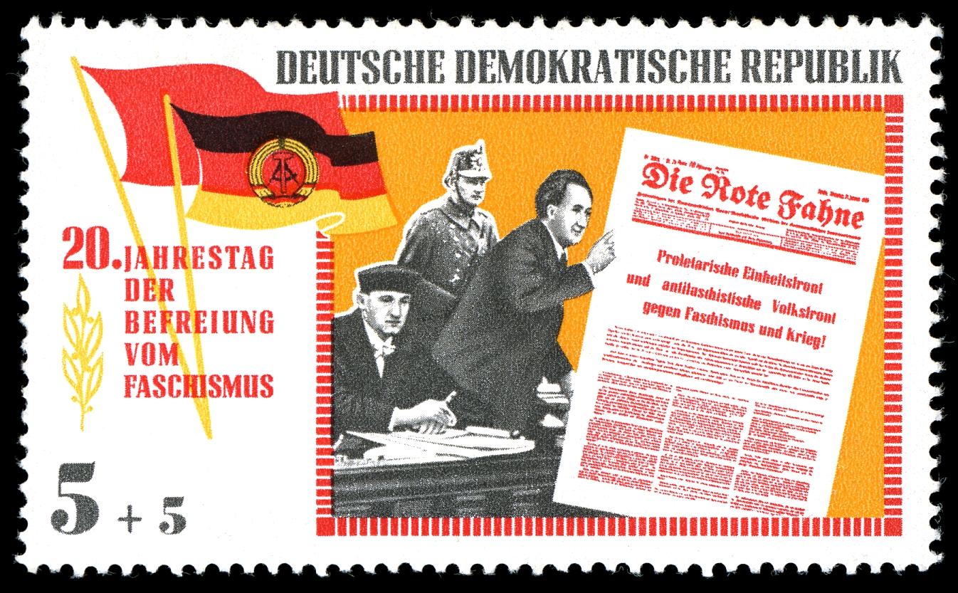 Briefmarke DDR 1965 Dimitroff vor dem Reichsgericht in Leipzig