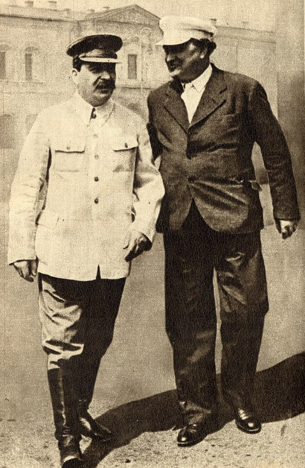 Dimitroff (rechts) bei Stalin in Moskau, 1936