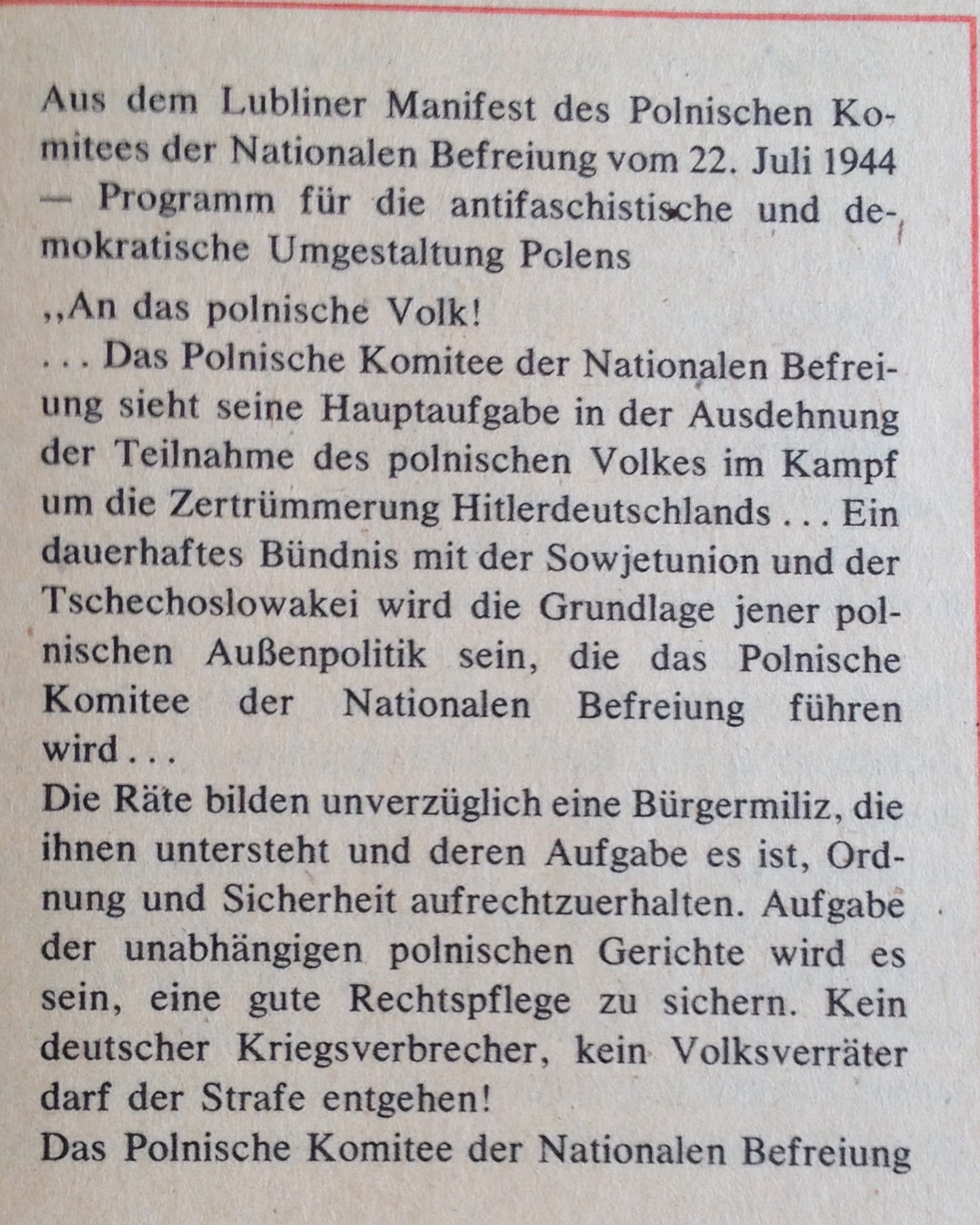 Lubliner Manifest Text 1
