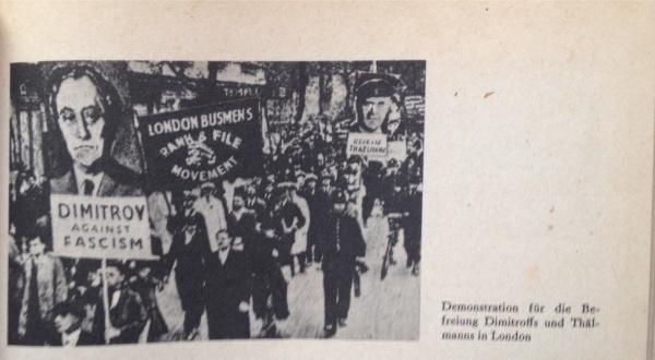 Solidemo für Thälmann und Dimitroff In London