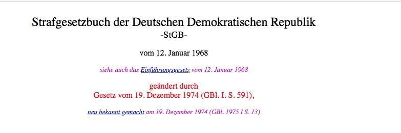 StGB DDR Titeldaten