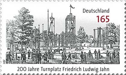 200 Jahre Turnplatz im Volkspark Hasenheide- deutsche Briefmarke von 2011