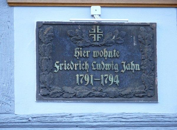 Gedenktafel am Wohnhaus in Salzwedel