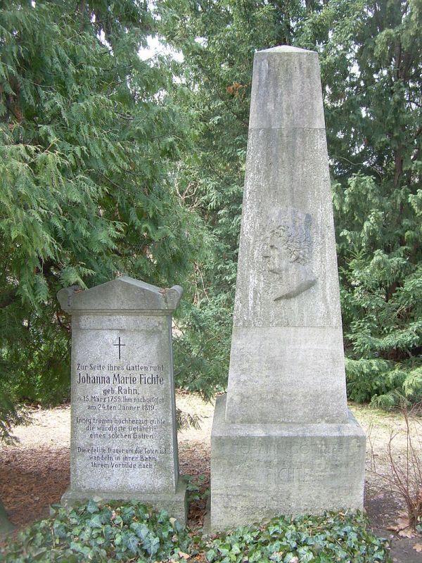 Gräber von Fichte und seiner Frau