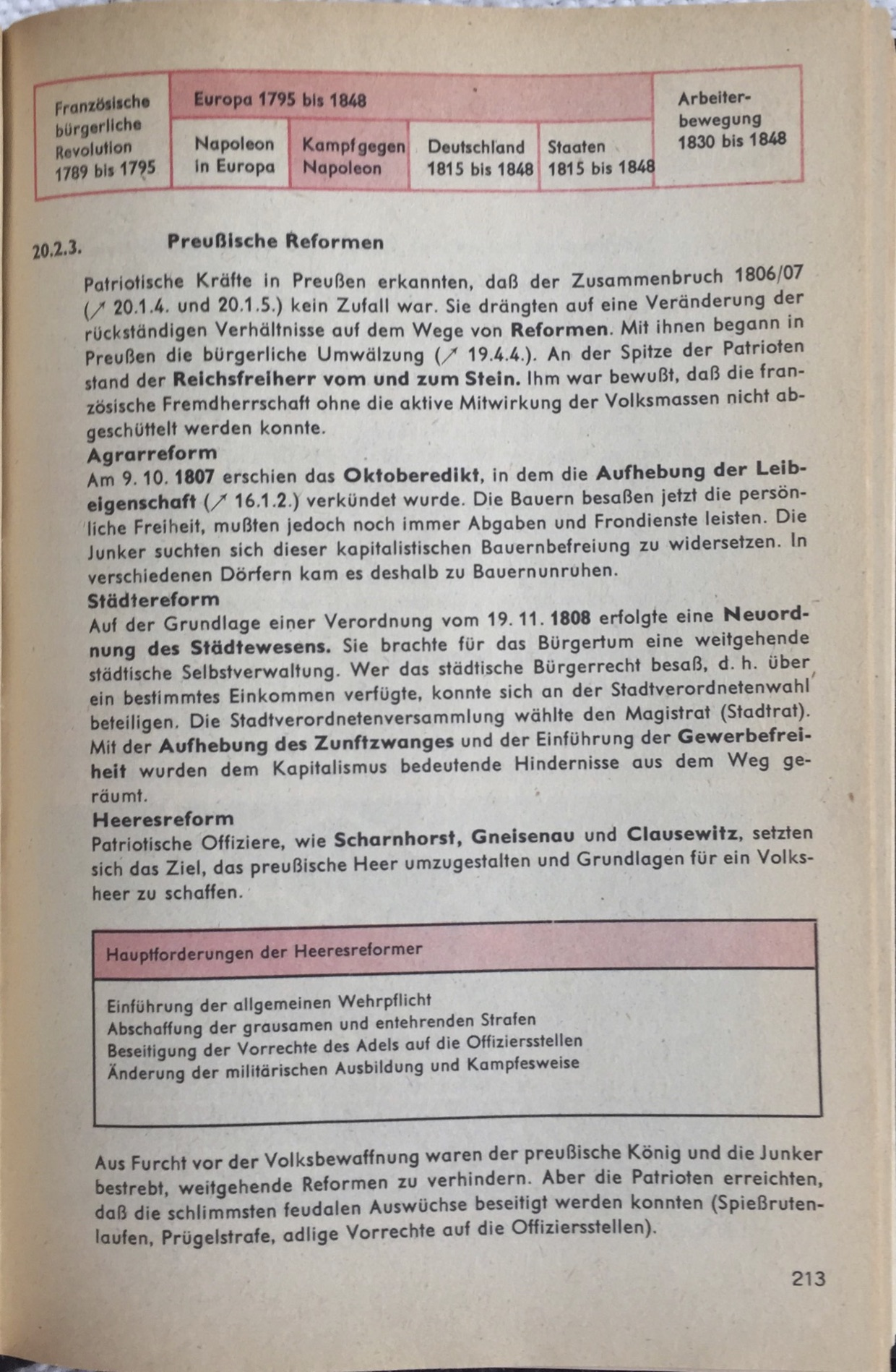 Reformen in Preußen