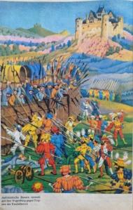 Bauern verteidigen ihre Wagenburg Kopie