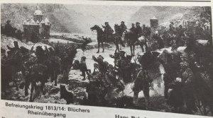 Blüchers Rheinübergang Befreiungskrieg 1813 - 14 Kopie