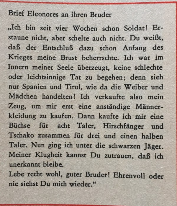 Brief Eleonores an ihren Bruder Kopie