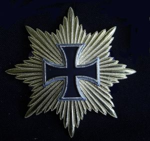 """Das Eiserne Kreuz mit goldenen Strahlen, genannt """"Blücherstern"""" (Replik)"""
