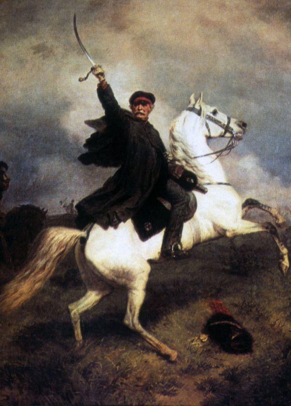 """""""Marschall Vorwärts"""", Gemälde von Emil Hünten"""
