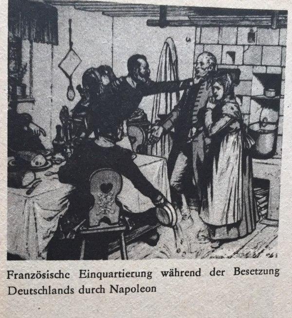 Französische Einquartierung unter französischer Besatzung