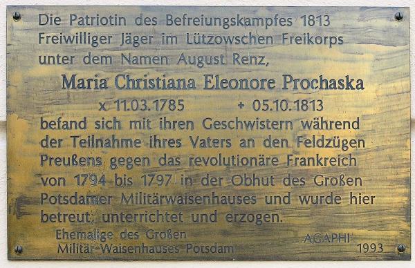 Gedenktafel am Haus Lindenstraße 34 in Potsdam