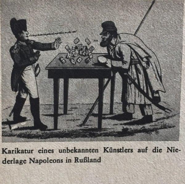 Karikatur Niederlage Napoleons