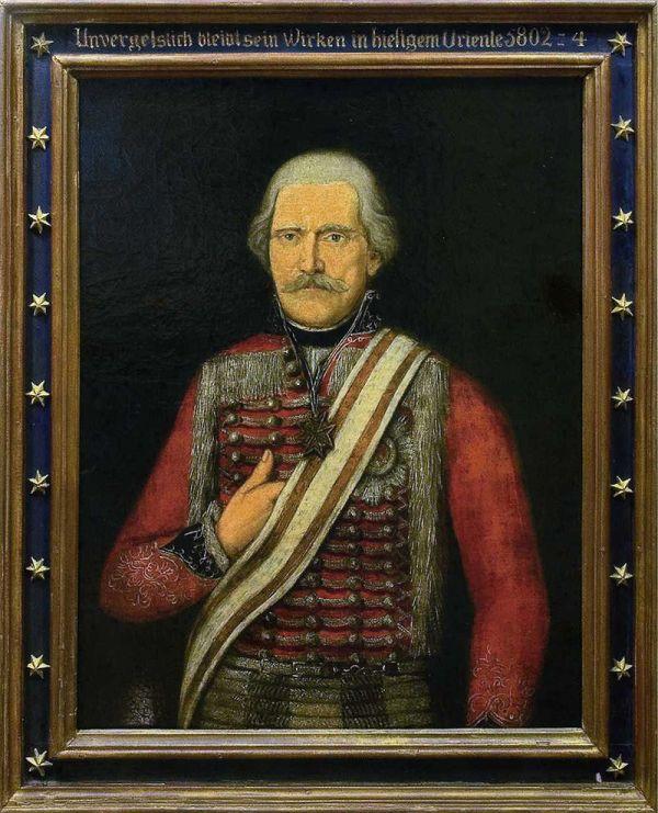 """Porträt für die Freimaurerloge """"Pax inimica malis"""" in Emmerich"""