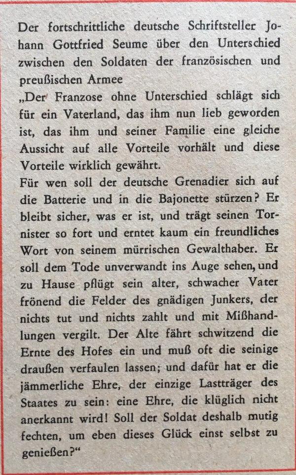 Schriftsteller zu Unterschied französische Und preußische Armee