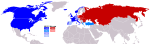 Weltkarte Kalter Krieg Kopie