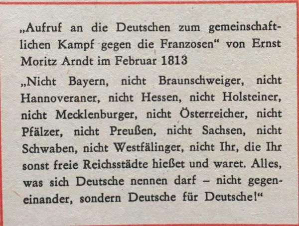 Aufruf Von Ernst Moritz Arndt