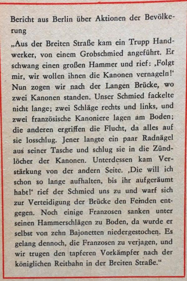 Bericht aus Berlin über Aktionen der Bevölkerung