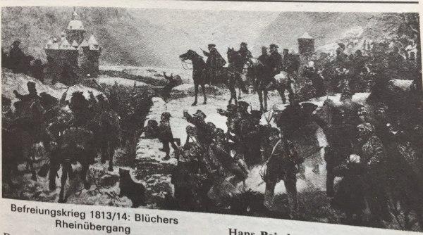 Blüchers Rheinübergang Befreiungskrieg 1813 - 14