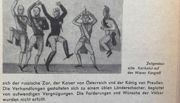 Wiener Kongress 1814-15 Karikatur