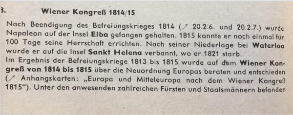Wiener Kongress Geschichte in Übersichten DDR