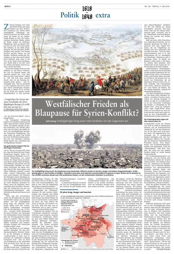 30jähriger Krieg heute gesehen(offizielle Geschichtsschreibung)
