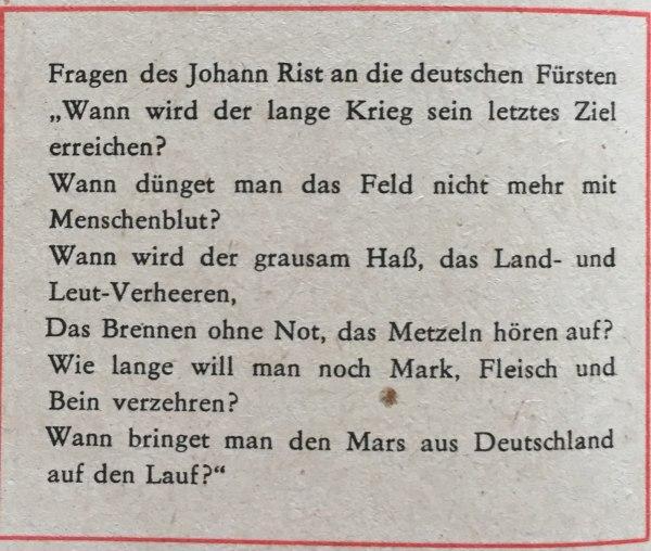 Fragen des Johann Rist