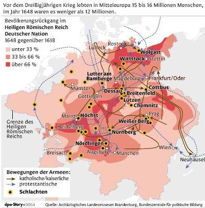 Karte 30jähriger Krieg