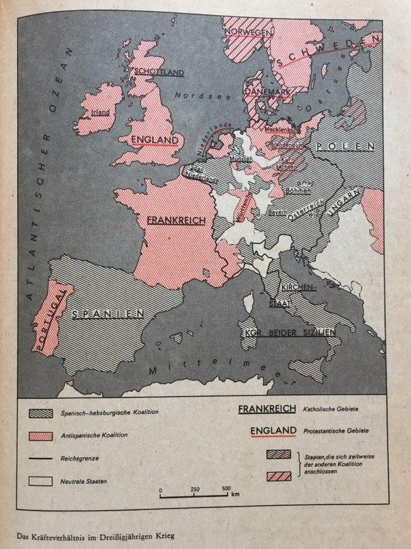 Kräfteverhältnis im 30jährigen Krieg