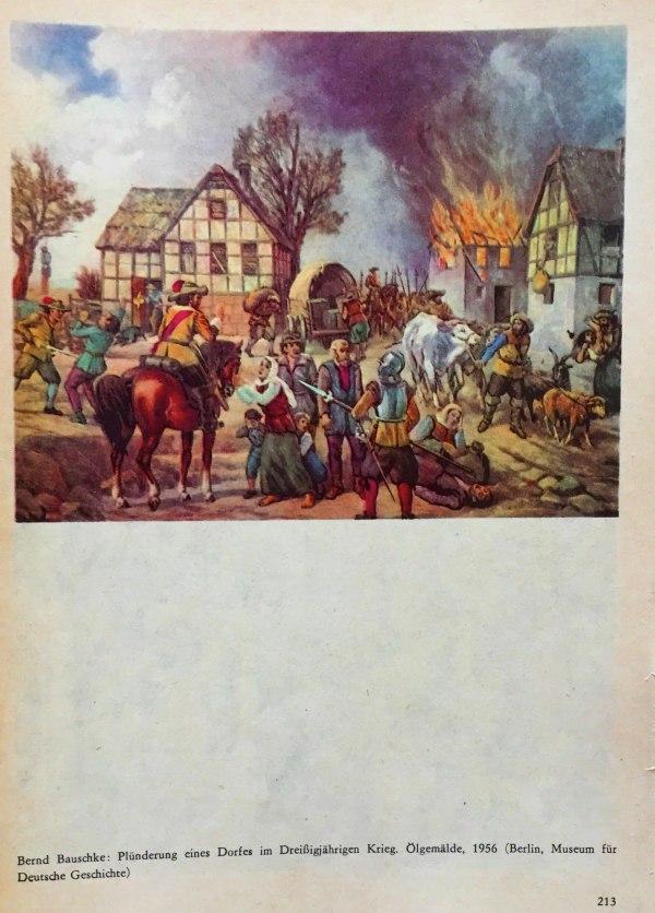 Plünderung eines Dorfes im 30jährigen Krieg