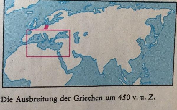 Ausbreitung der Griechen um 450 v. u. Z.