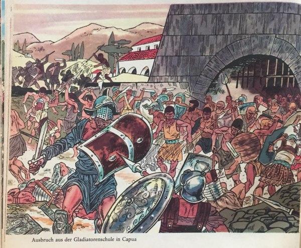 Ausbruch aus Gladiatorenschule in Capua